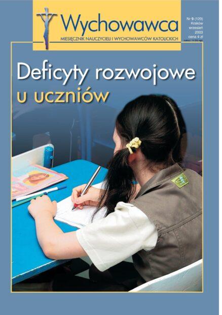 9/2003 Deficyty rozwojowe u uczniów